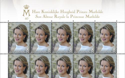21 januari: 40e verjaardag van Prinses Mathilde (Vel)
