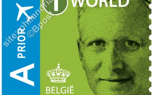 14 maart: '1 World' zelfklevende versie - Koning Filip