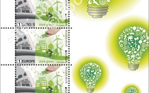 13 juni: Europa-uitgifte, 'Think Green' (compleet blaadje)