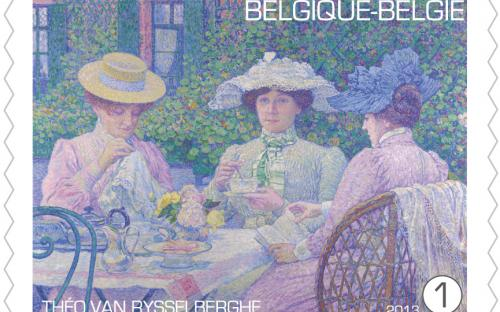 15 april: Théo Van Rysselberghe, zegel 3