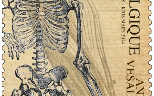 22 april: Andreas Vesalius (zegel B)
