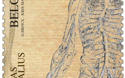 22 april: Andreas Vesalius (zegel E)