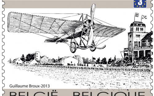 15 april: 100 jaar eerste luchtpost, St.Agatha Berchem