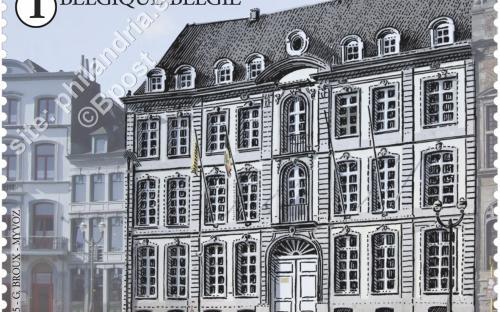 1 juni: De Grote Markt van Mons (Hôtel Couronne)