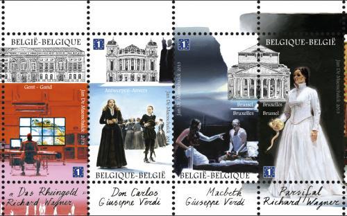 13 mei: Opera (200e verjaardag van Verdi & Wagner), postzegelboekje