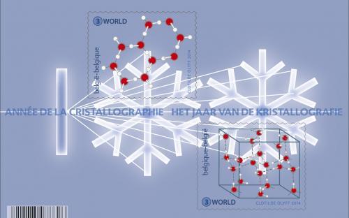 10 juni: Kristallen doorgelicht - Transparante postzegel - Het volledige vel