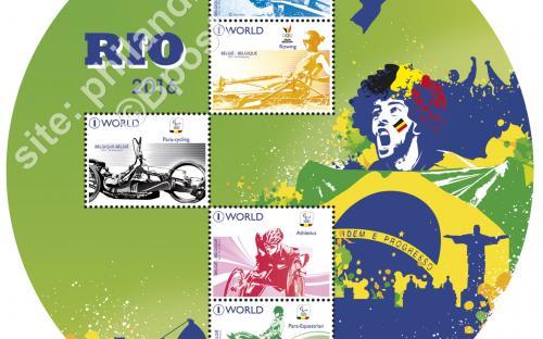 22 augustus: Olympische Spelen en Paralympiques te Rio (compleet blaadje)