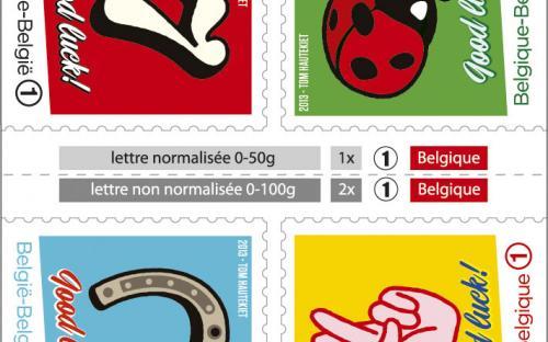 13 september: gelukszegels, postzegelboekje