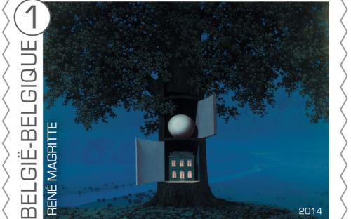 8 september: René Magritte, zegel 1