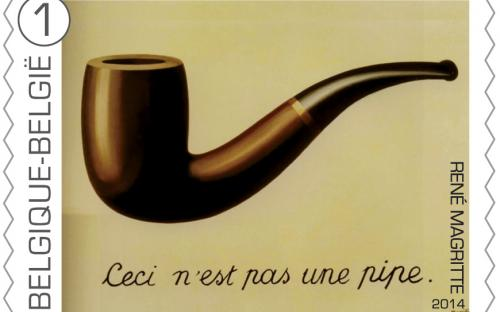 8 september: René Magritte, zegel 3