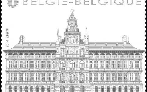 8 september: De Antwerpse Grote Markt (zegel 3)