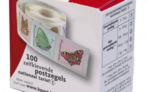6 oktober: Vlinders van M.Meersman, Doos met rolzegels (Ned)