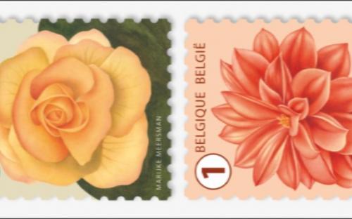 24 oktober: Bloemen (Strip van 10 zegels)