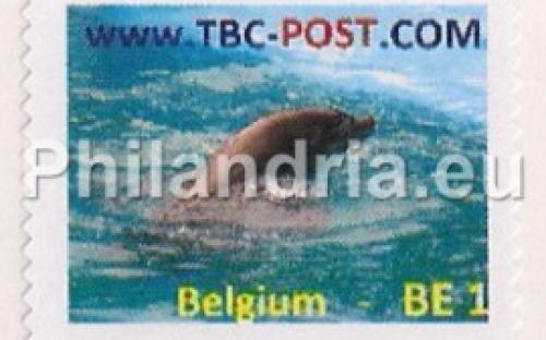 14 mei: BE-1: Dolfijn (ZONDER randpapier (uit postzegelboekje))
