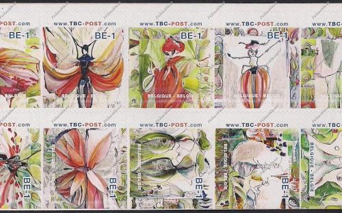 BE-1 (€0.67) - Insecten (volledig blaadje, combinatie 2)