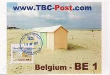 België - TBC-Post, Strandcabines & Bootje op het strand