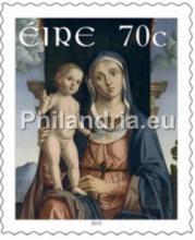 Ierland: Kerstmis 2015, twee automaatzegels en één postzegel
