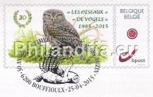 """België - Bpost, Buzin """"30e verjaardag van de eerste postzegel type """"vogels"""""""