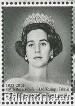 België -  Bpost, Rouwzegels van H.M.Koningin Fabiola