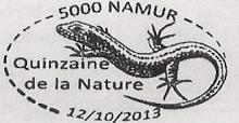 stempel Quinzaine de la Nature, motief 'De Muurhagedis'