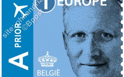14 maart: '1 Europe' zelfklevende versie - Koning Filip
