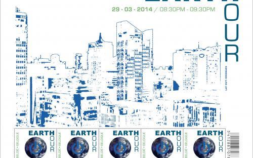 10 maart: Earth Hour - Het volledige vel (onder UV licht)