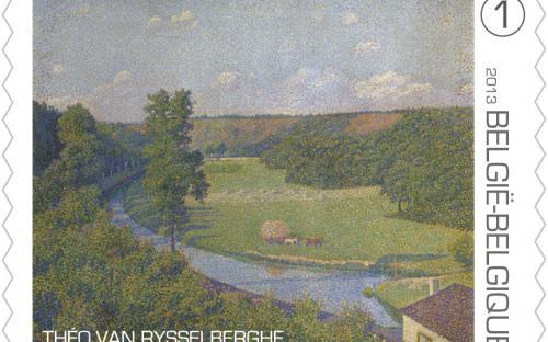 15 april: Théo Van Rysselberghe, zegel 1