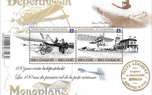 15 april: 100 jaar eerste luchtpost, volledig blaadje