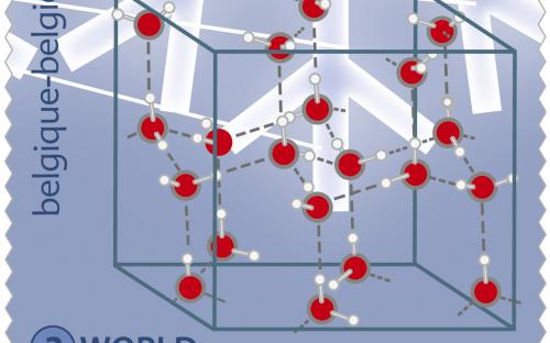 10 juni: Kristallen doorgelicht - Transparante postzegel (Zegel B)