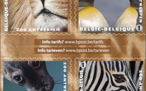 13 mei: Natuur 2013, Zoo van Antwerpen, Postzegelboekje