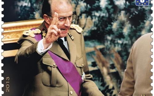 24 juni: Koning Albert II 20 jaar op troon, zegel 1