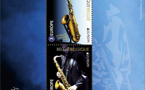 7 juli: Europa-uitgifte - De Saxofoon - Het volledige vel