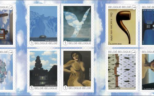 8 september: René Magritte, postzegelboekje