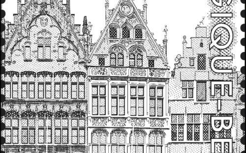 8 september: De Antwerpse Grote Markt (zegel 5)