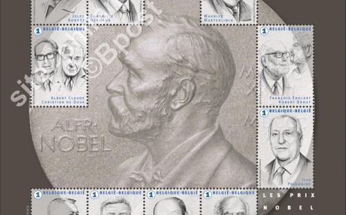 24 oktober: Belgische Nobelprijswinnaars (compleet blaadje)