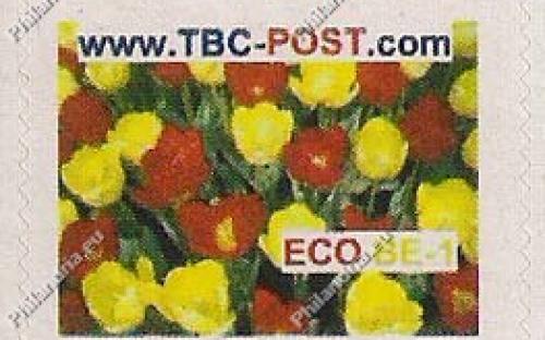ECO BE-1 (€0.63) - Keukenhof, Rode tulipa/ gele Sonny