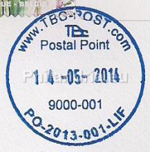 België - TBC-Post, postpunten, brievenbussen en sorteercentrum