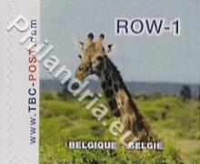 België - TBC-Post, uitgifte 'Giraffen' - waarde ROW-1